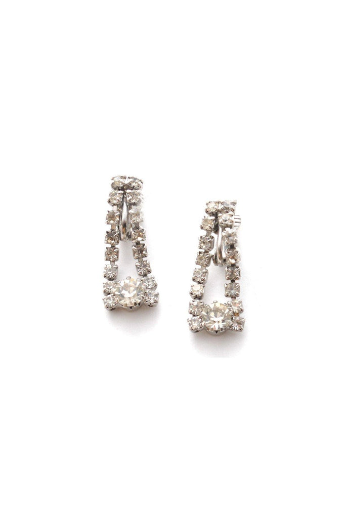 Dainty Rhinestone Drop Clip-on Earrings