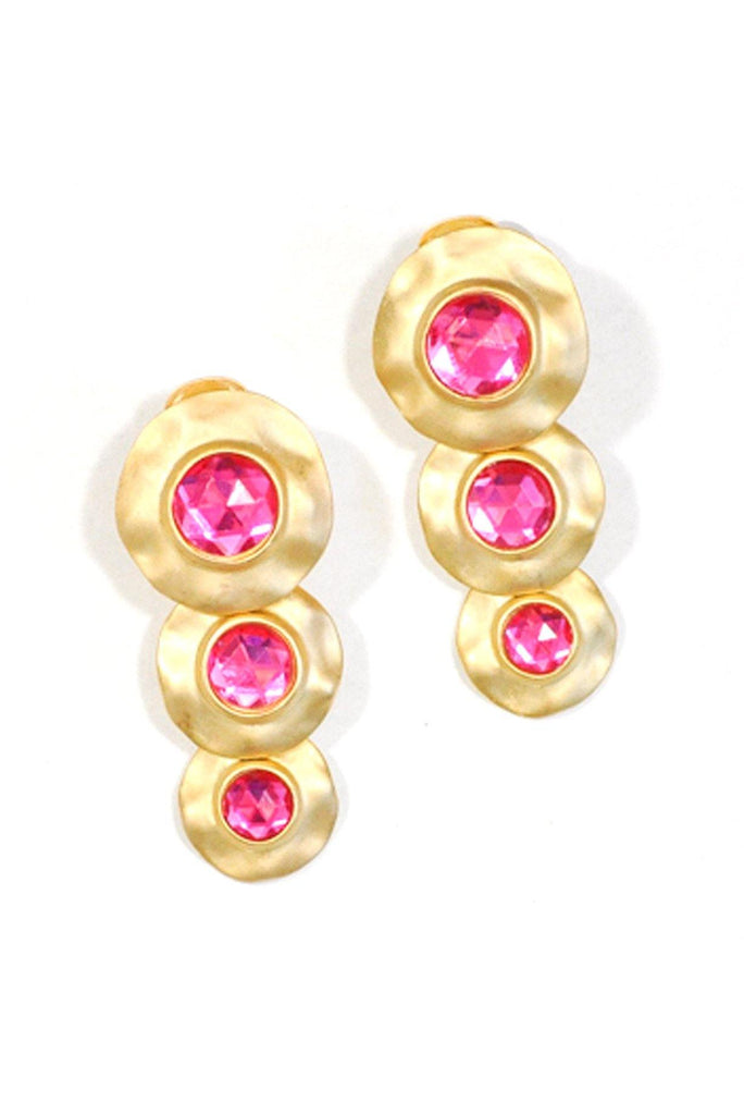 80's__Vintage__Statement Rhinestone Clip-On Earrings