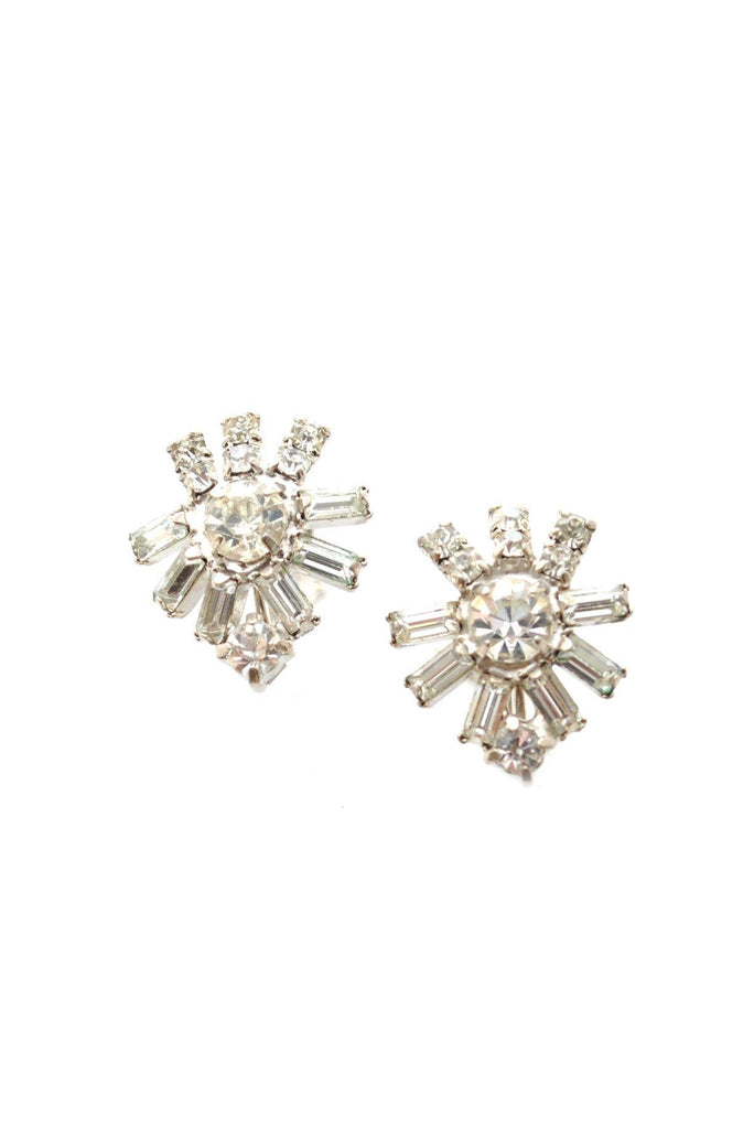 50s__Vintage__Rhinestone Clip-On Earrings