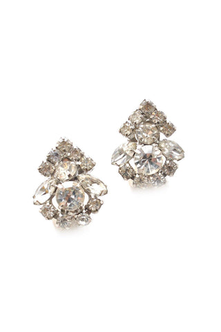 60s__Vintage__Rhinestone Clip-On Earrings