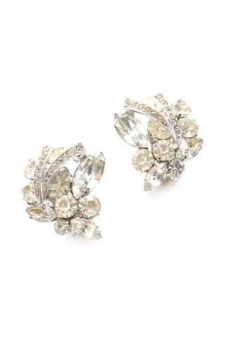 Rhinestone Custer Clip-on Earrings