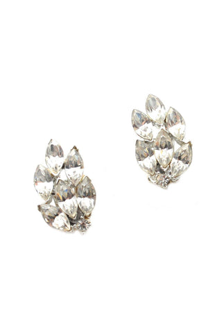 60s__Vintage__Rhinestone Crawler Clip-On Earrings