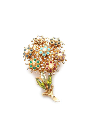 50s__Vintage__Statement Floral Brooch
