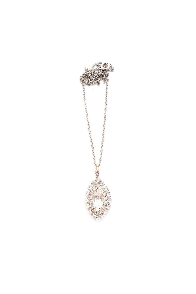 Dainty Rhinestone Charm Necklace