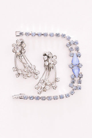 Light Blue Rhinestone Bracelet
