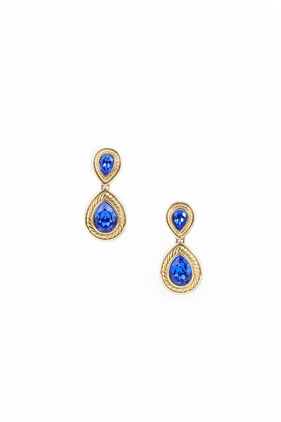 80's__Vintage__Cobalt Drop Earrings