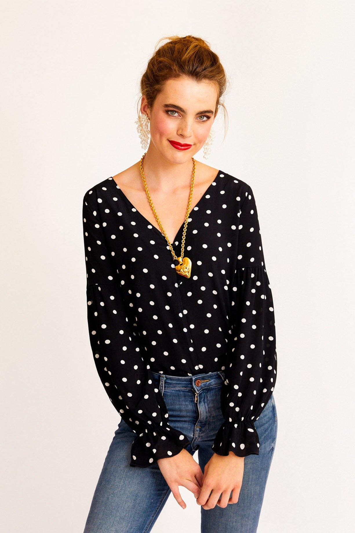 Sanctuary Alma Polka Dot Top from Sweet & Spark.