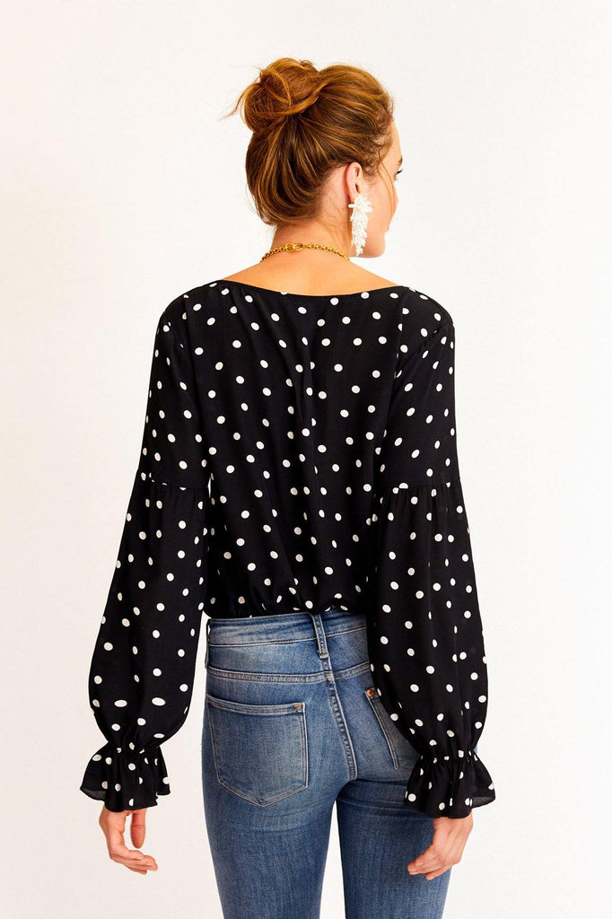 Sanctuary Alma Polka Dot Top