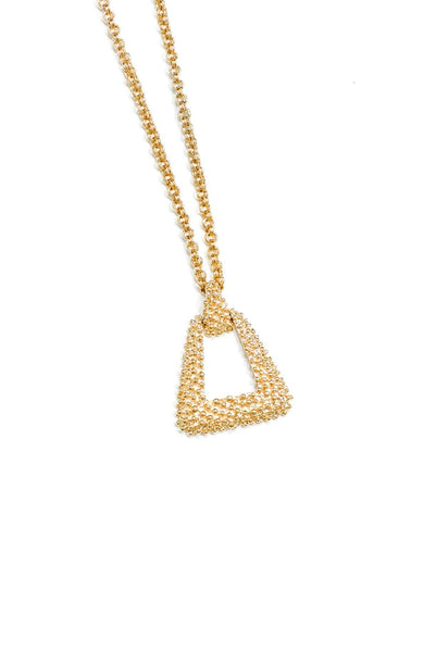 70's__Sarah Coventry__Triangle Pendant Necklace