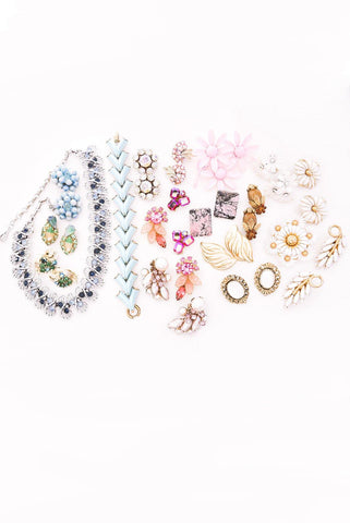 Rhinestone Bunches Clip-on Earrings