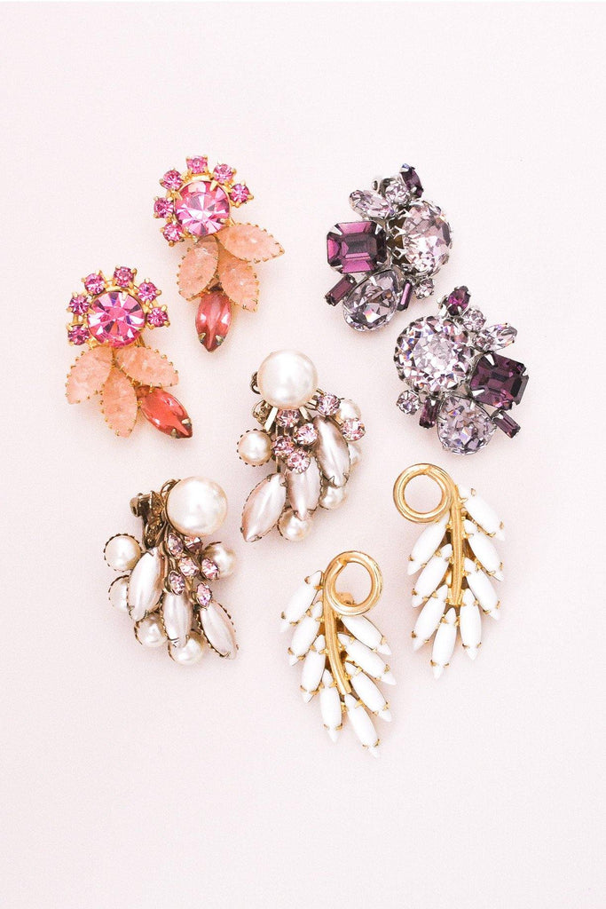 Chunky Pink Clip-on Earrings
