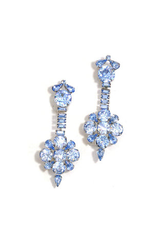 50's__Vintage__Statement Rhinestone Clip-On Earrings