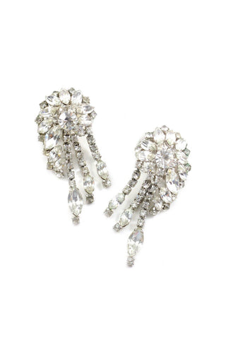 60s__Vintage__Statement Rhinestone Crawler Clip-On Earrings