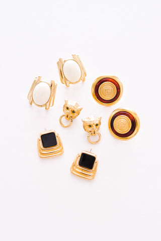 Statement Cream Earrings