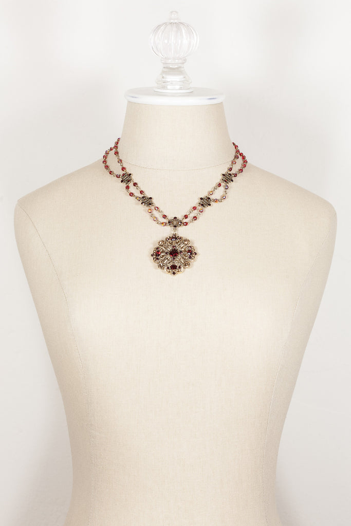 80's__Avon__Ruby Pedant Necklace