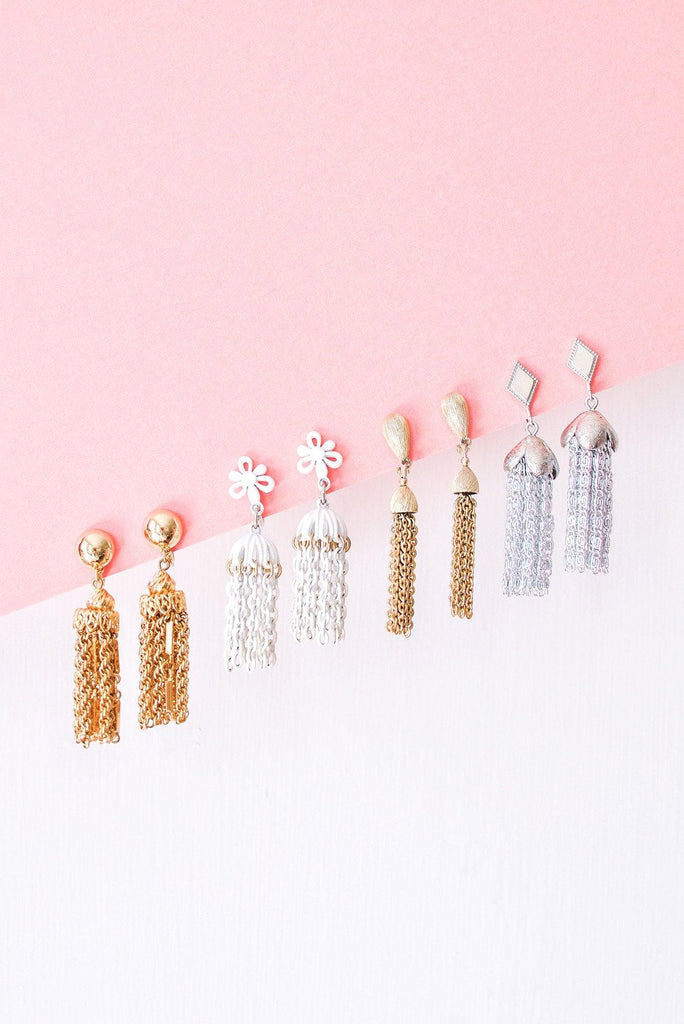 Classic Tassel Clip-on Earrings
