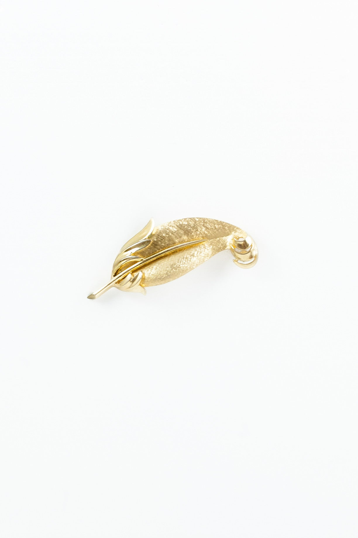 80's__Trifari__Feather Brooch