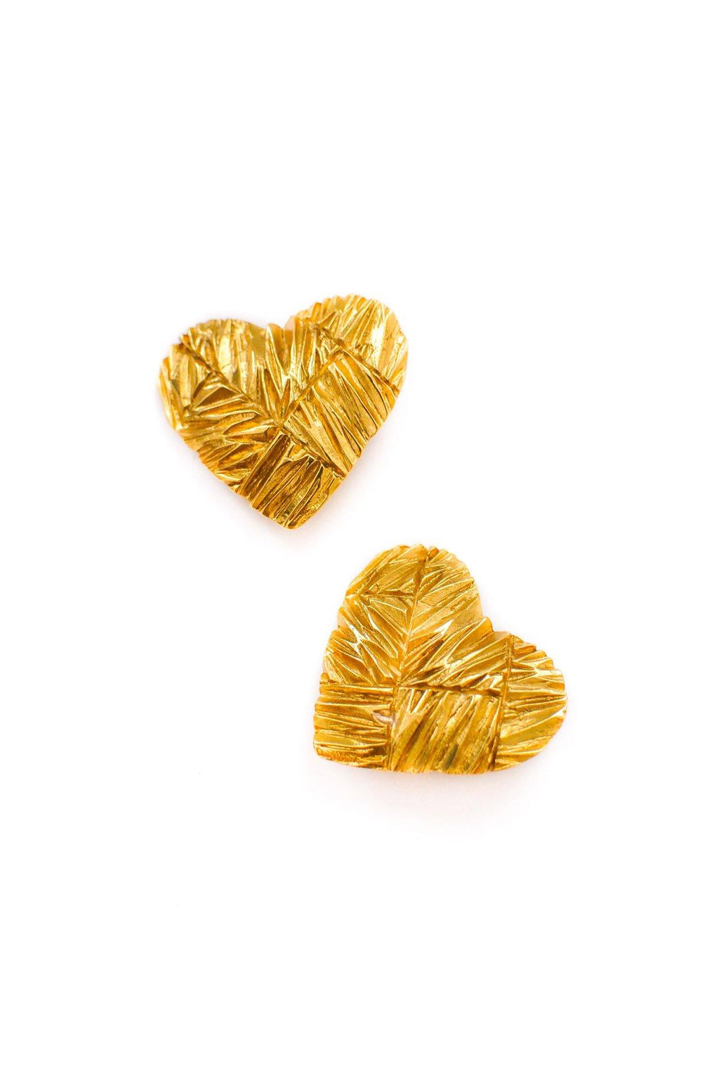 YSL Statement Heart Clip-on Earrings