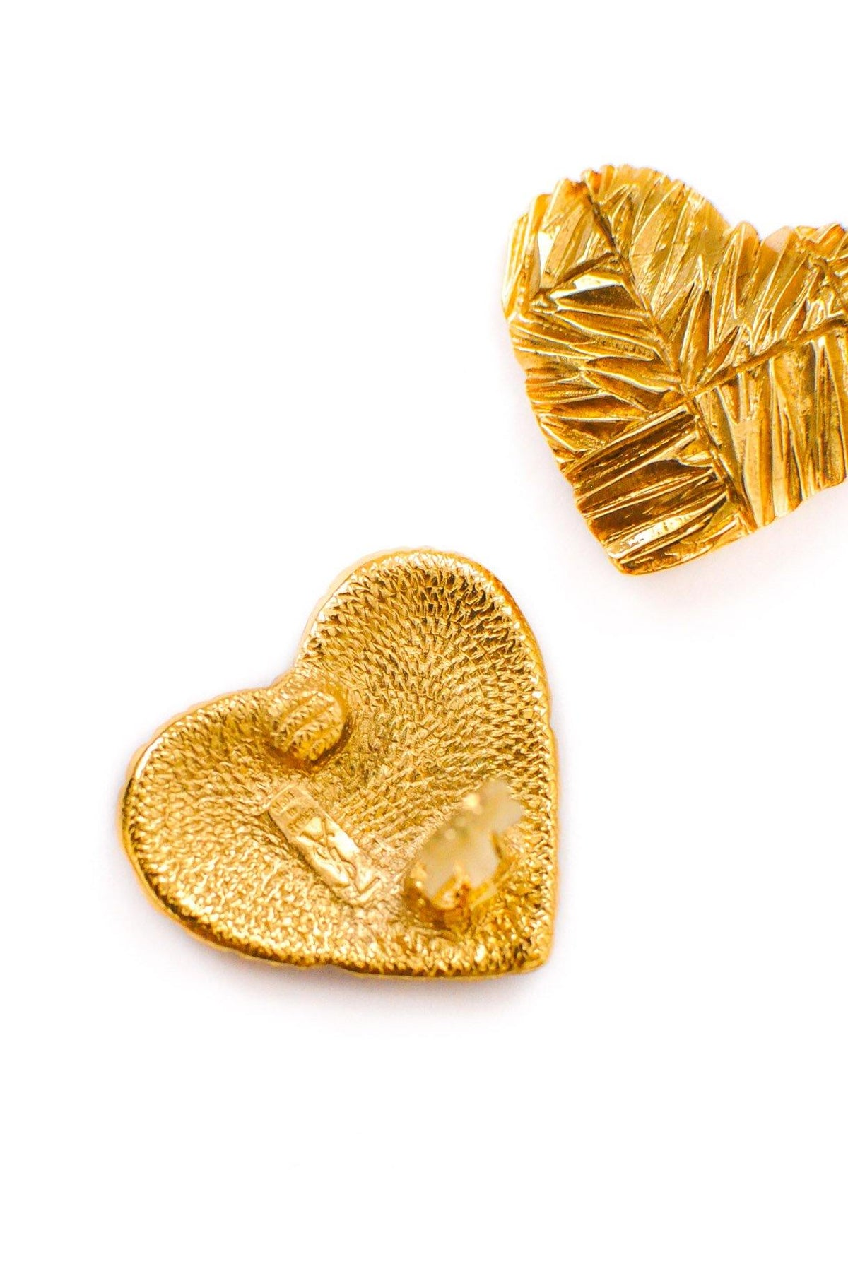 Vintage YSL Heart Clip-on Statement Earrings