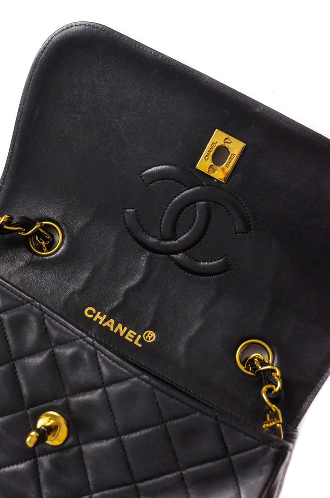Chanel Small Black Lambskin Flap Bag