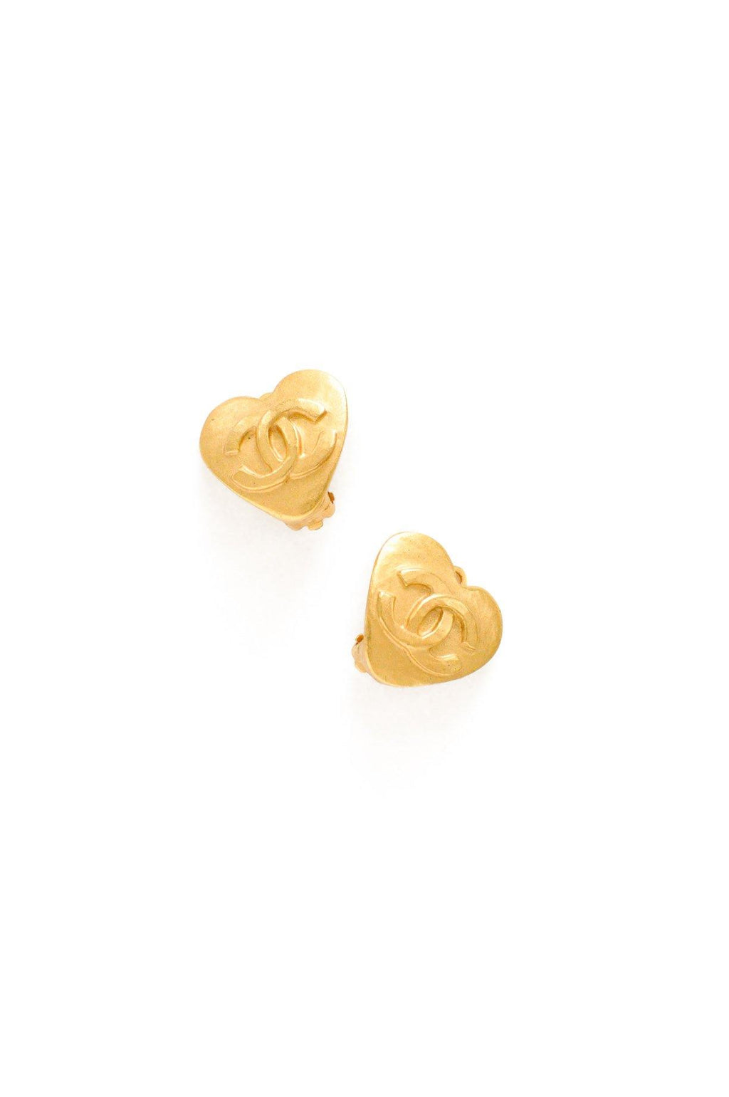 Chanel Mini Heart Clip-on Earrings