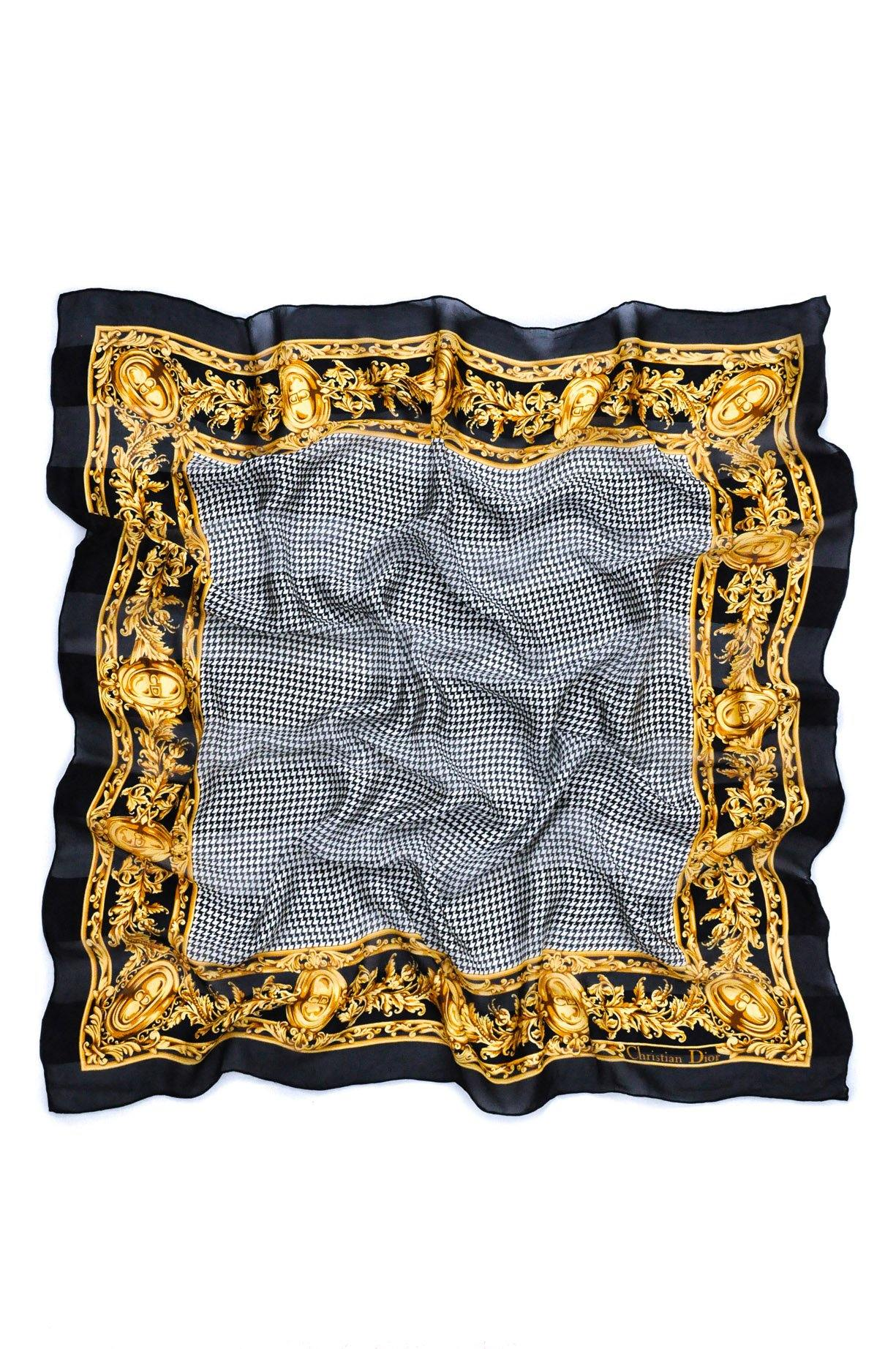 Christian Dior Houndstooth Scarf