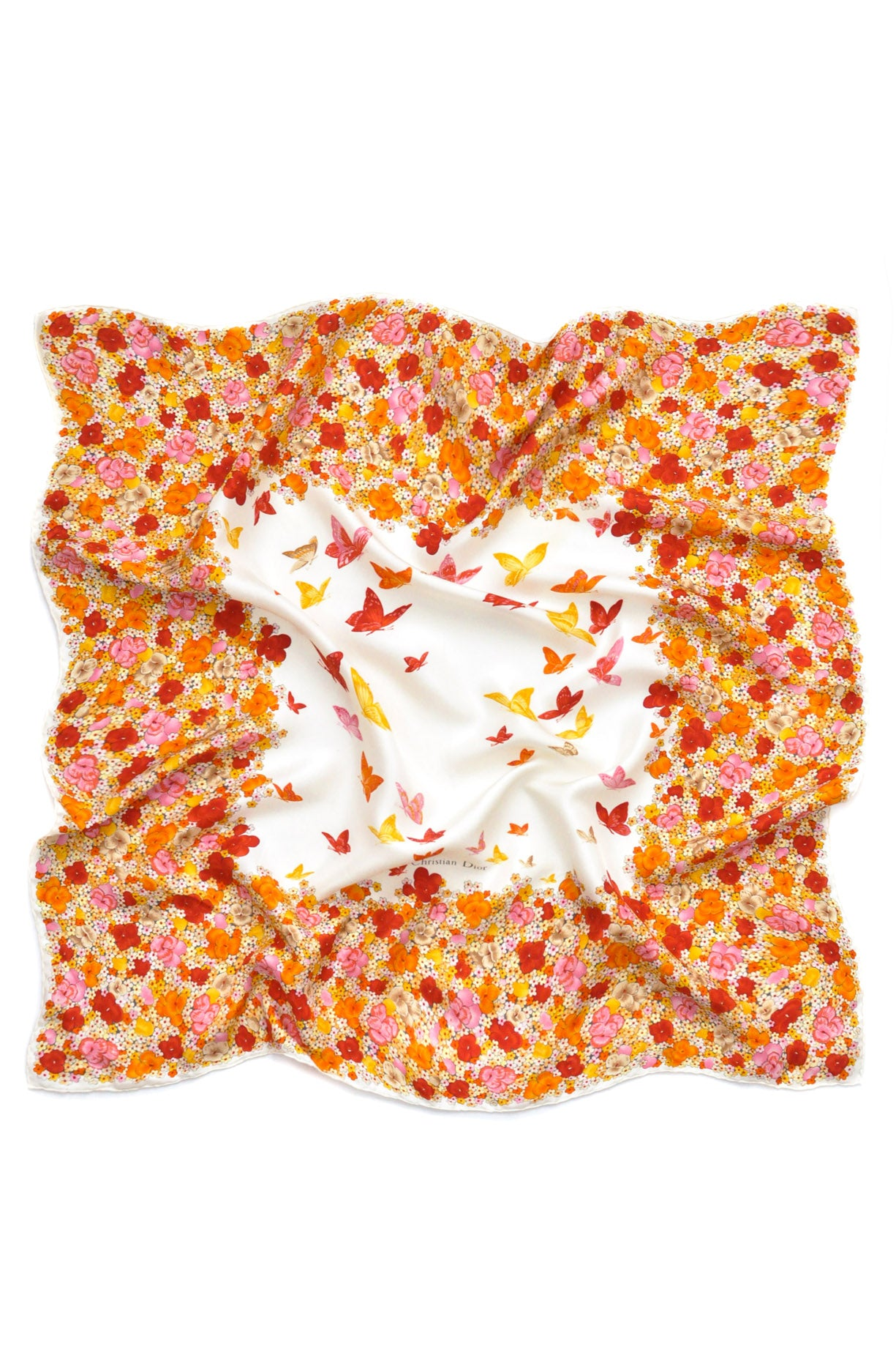 Christian Dior Florals Scarf