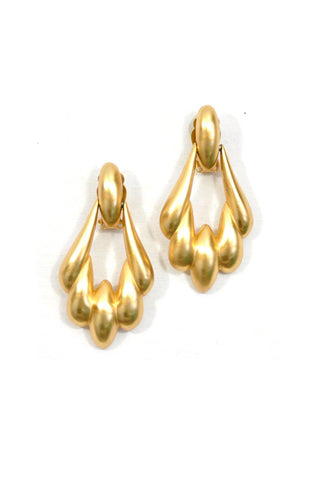 80's__Vintage__Gold Door Knocker Clip-On Earrings