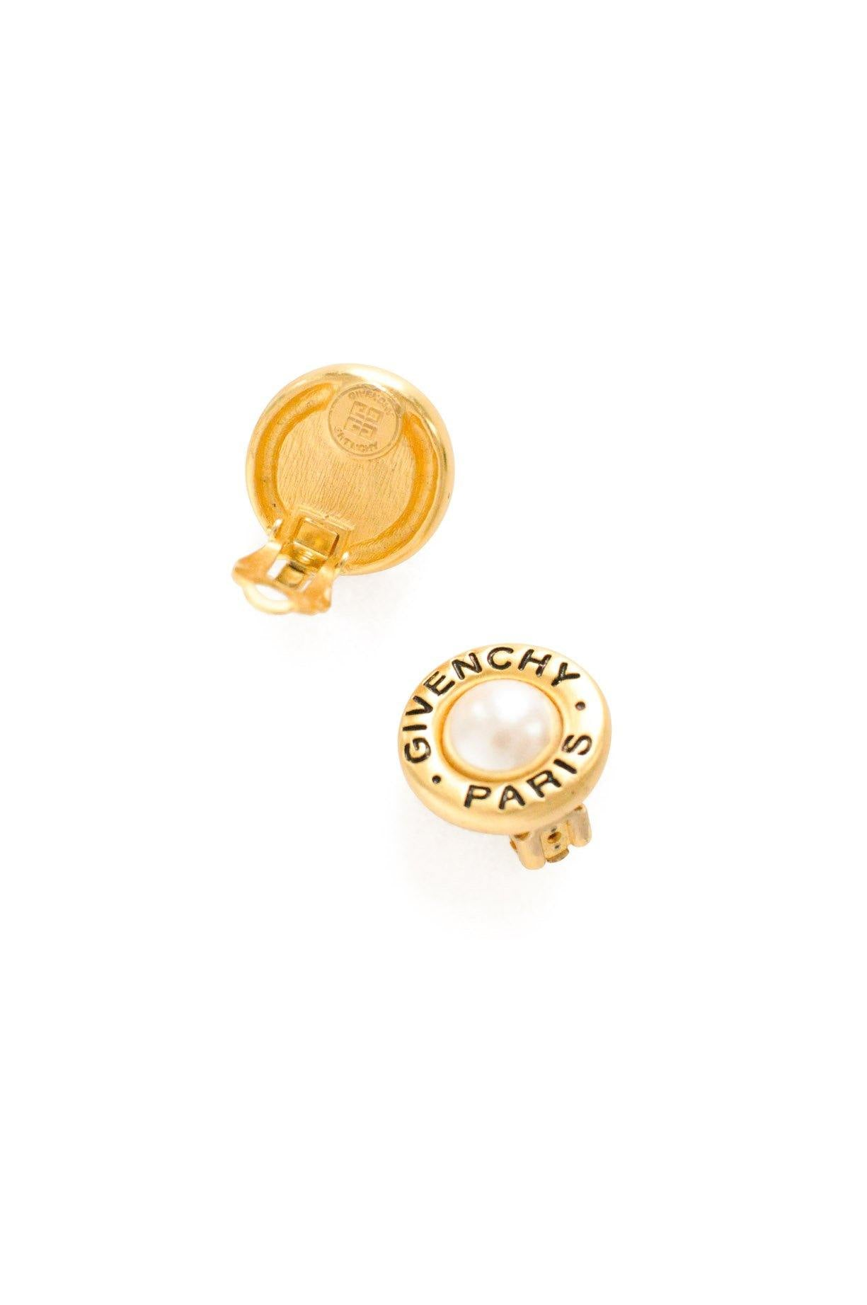 Givenchy Pearl Clip-on Earrings
