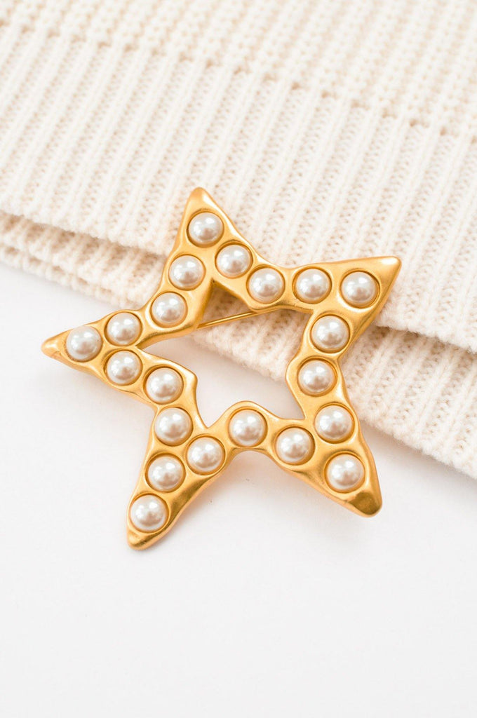 Givenchy Pearl Star Brooch