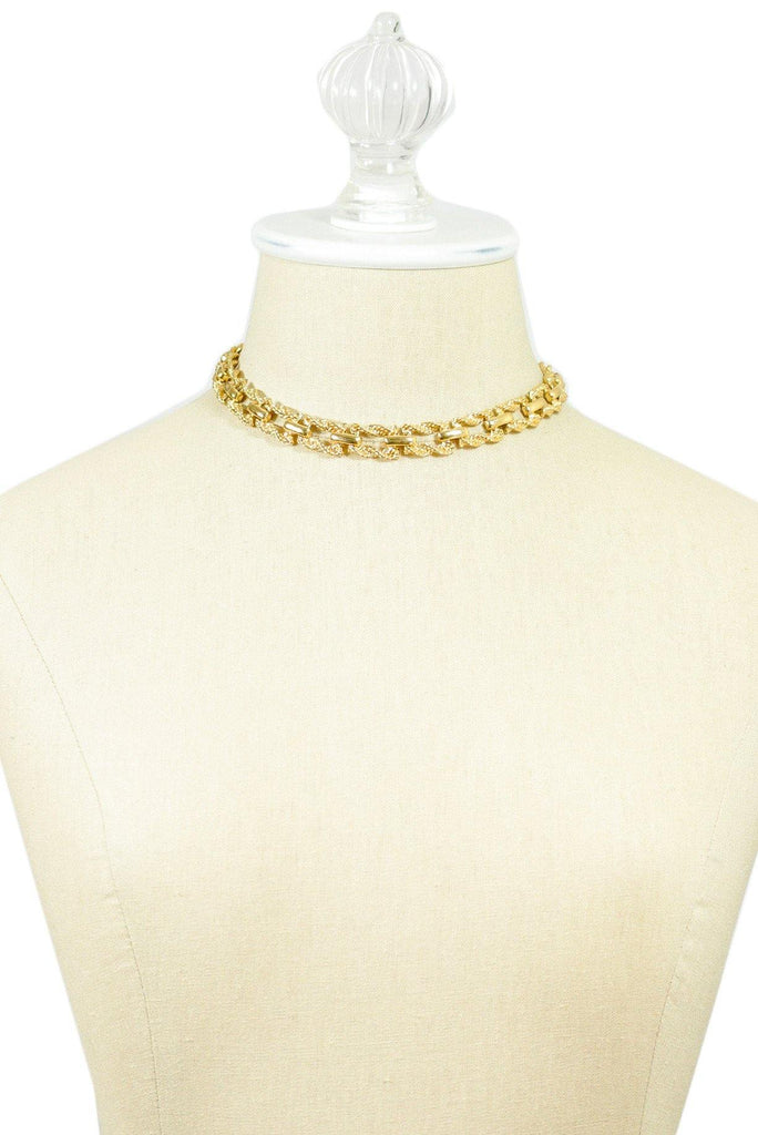 70's__Monet__Hammered Choker Necklace