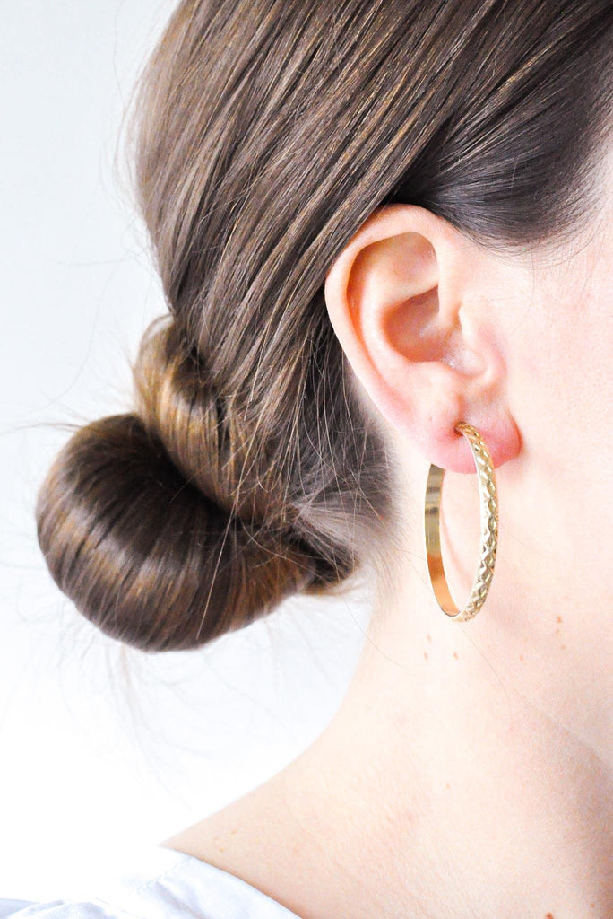 Textured Hoop Clip-on Earrings