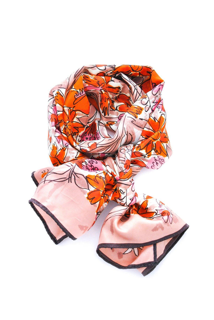 Garden Florals Rectangle Scarf
