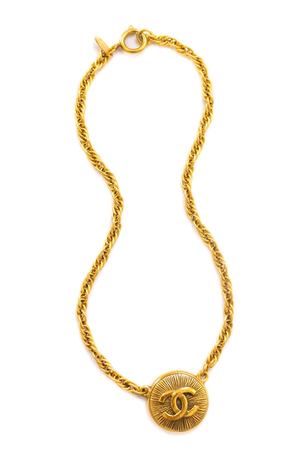Chanel CC Pendant Choker Necklace