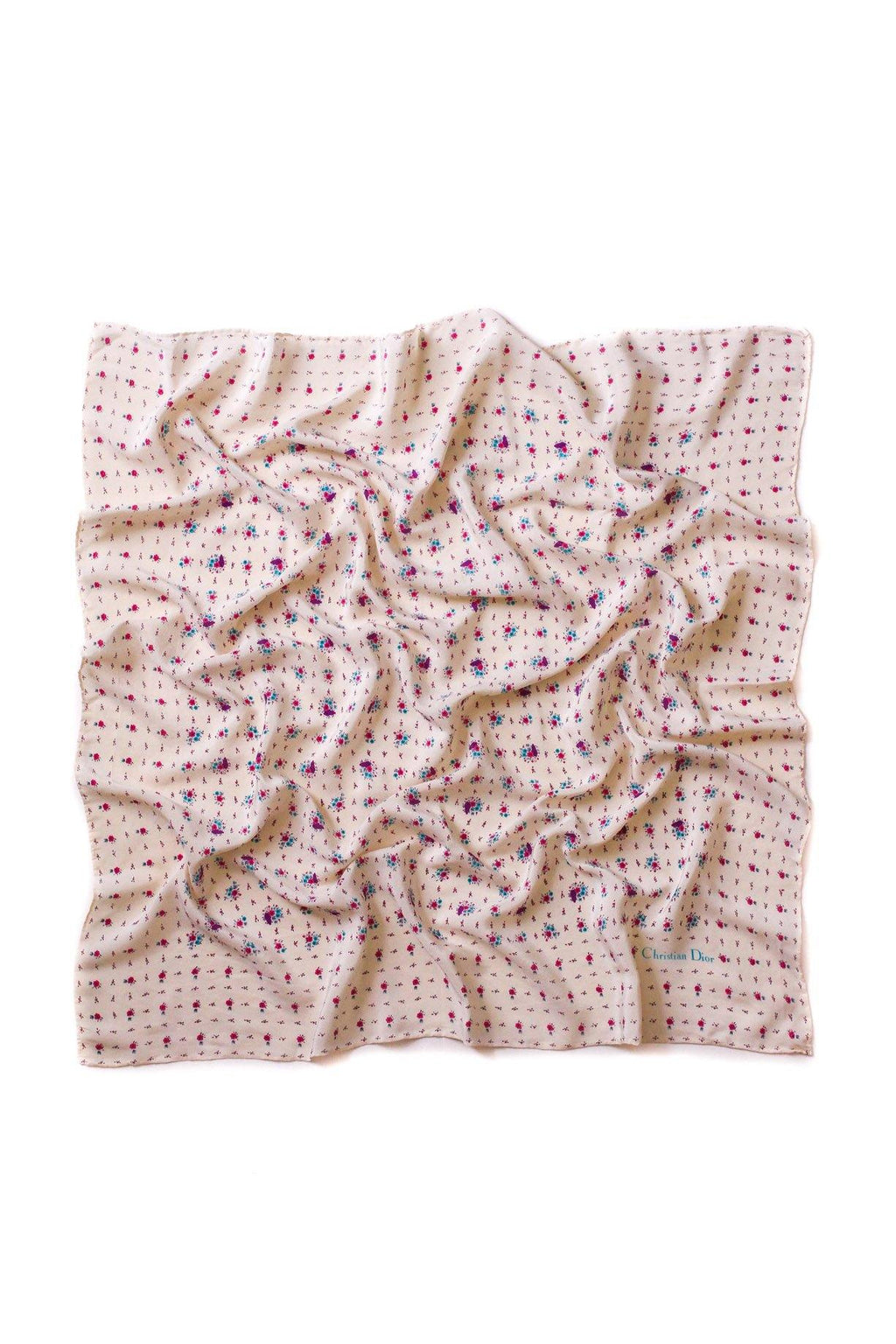 Christian Dior Ditsy Floral Square Scarf