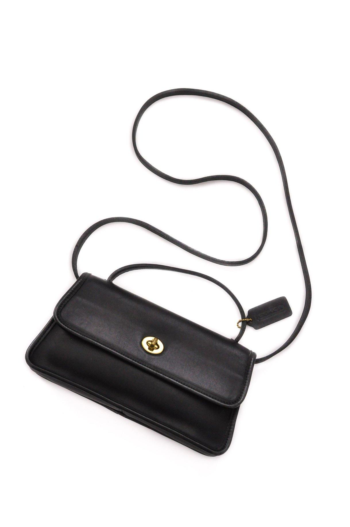 Coach Black Geometric Top Handle Bag