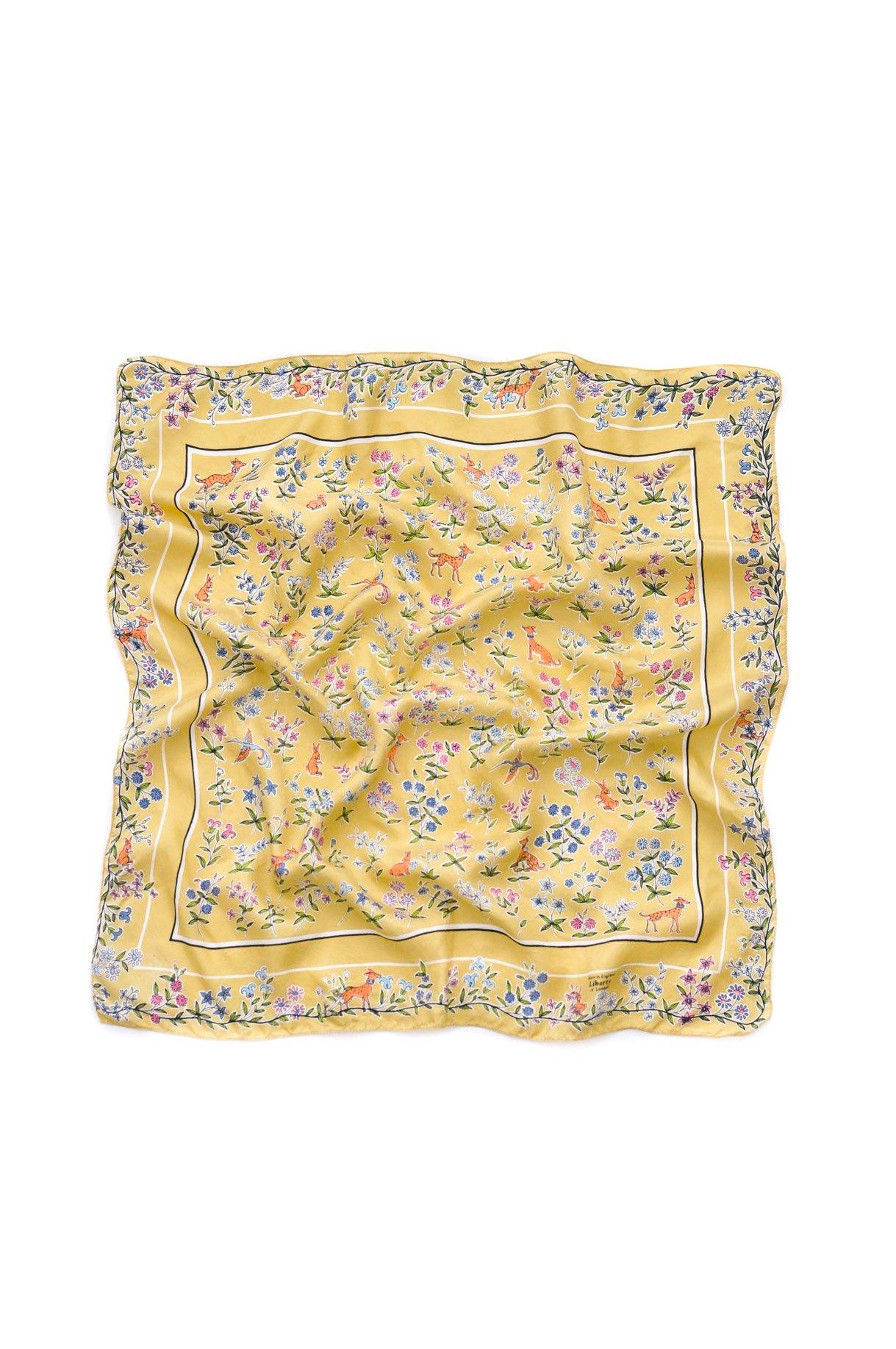 Liberty of London Floral Yellow Scarf