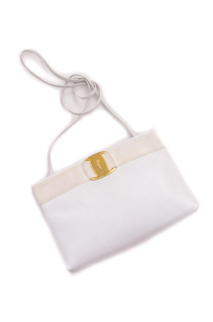 Salvatore Ferragamo White Leather Crossbody Bag