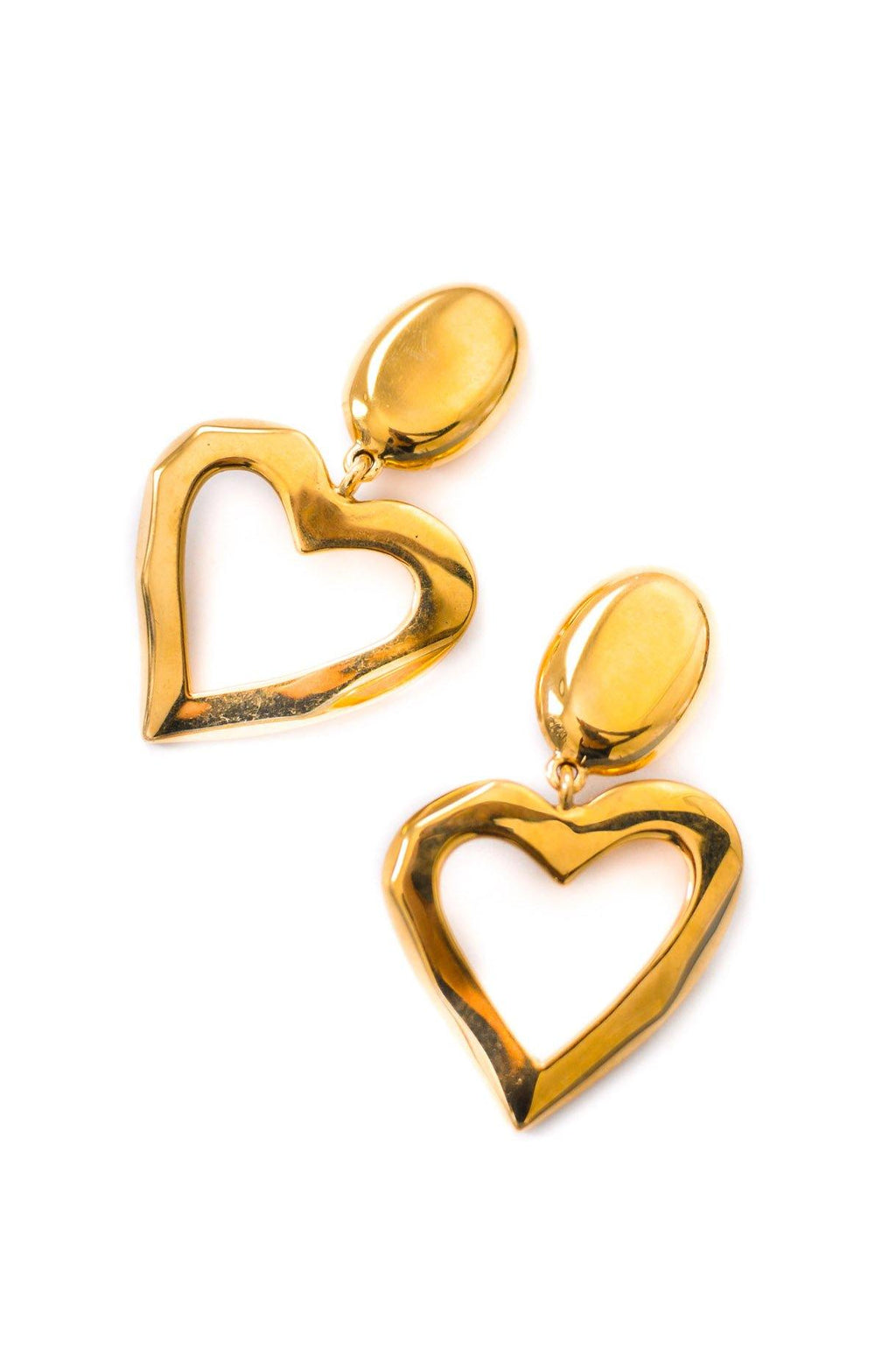 St. John Statement Heart Clip-on Earrings