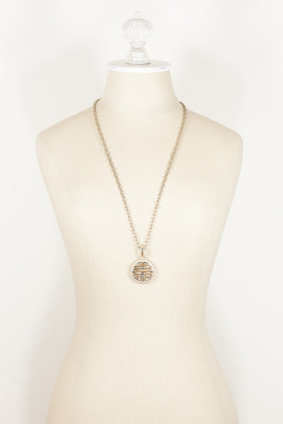 70's__Sarah Coventry__Monogram Pendant Necklace