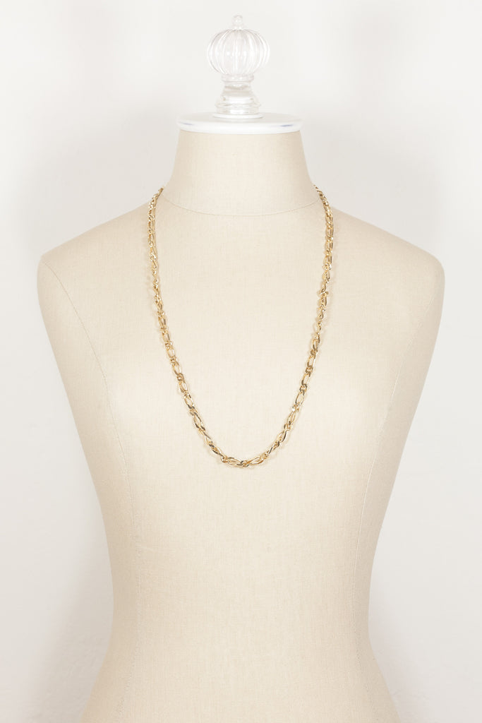 70's__Monet__Classic Flat Chain Necklace