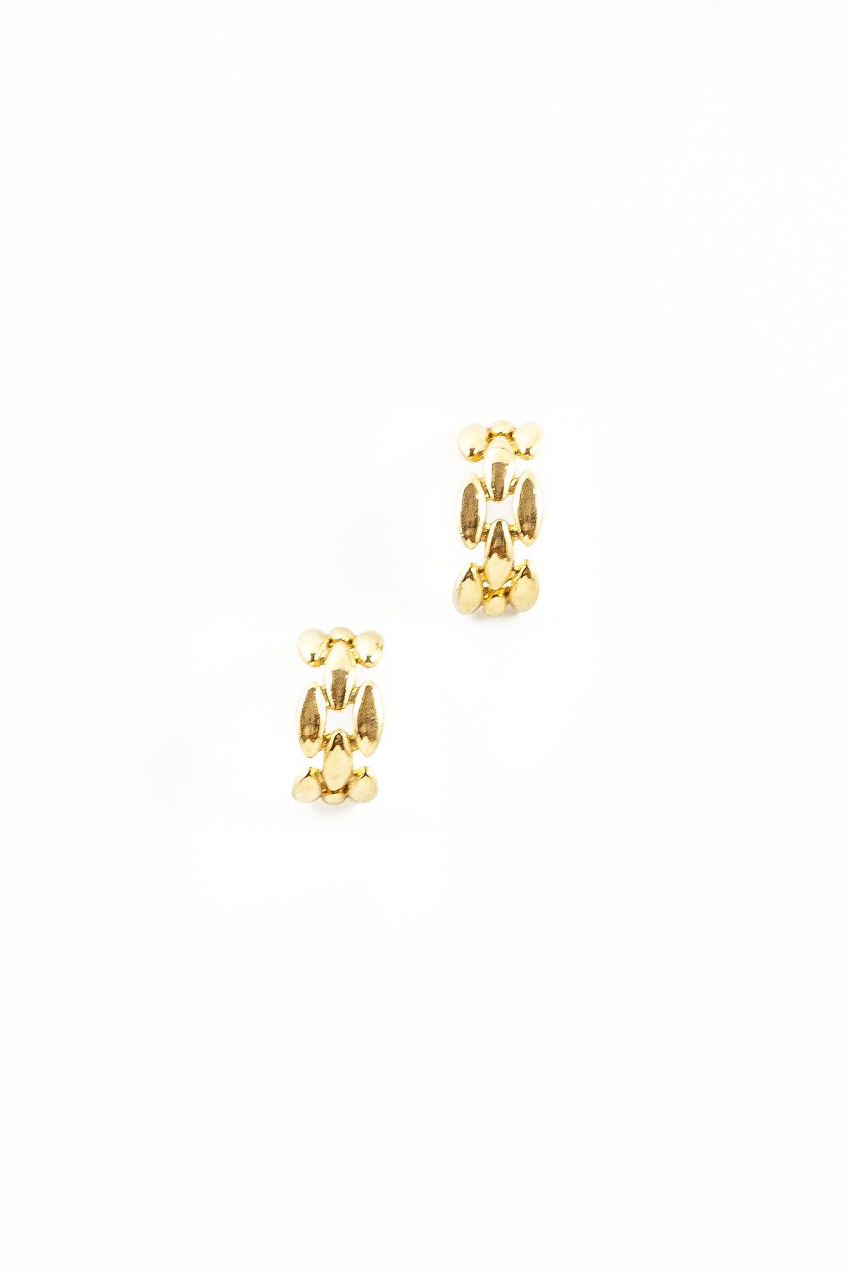 80's__Givenchy__Chunky Chain Hoop Earrings