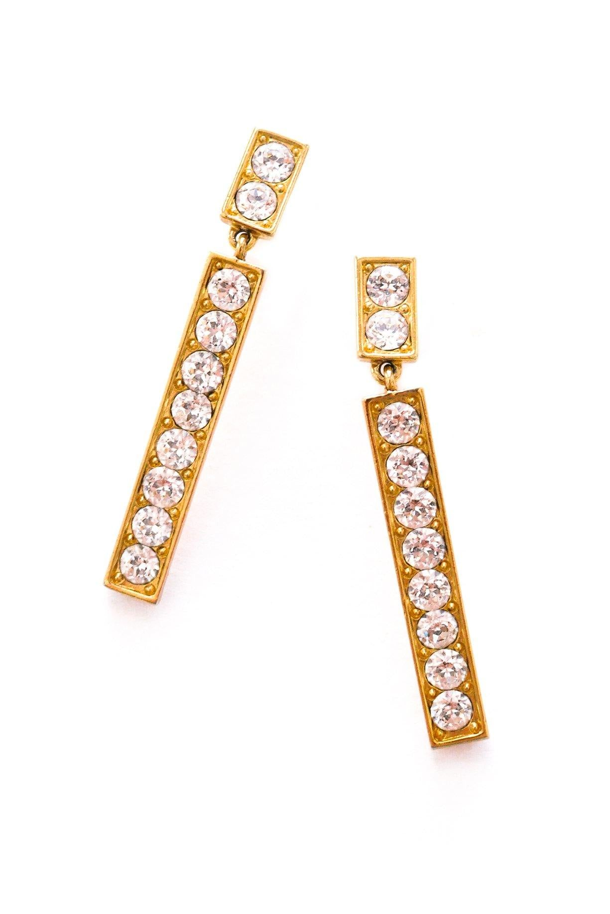 YSL Drop Pierced Earrings