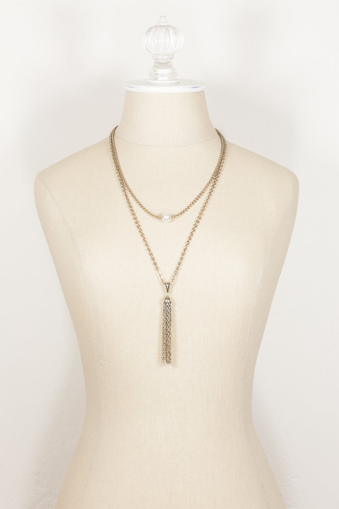 70's__Sarah Coventry__Layered Tassel Necklace