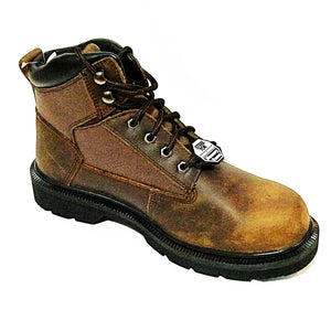Skechers Work Relaxed Fit: Makanix - Mennot Steel Toe Boots - Brown