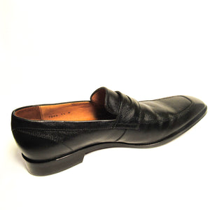Massimo Matteo Leather Penny Loafers