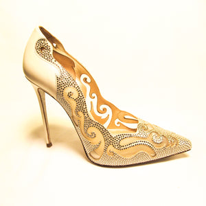 Rene Caovilla Embellished High Heel Pump