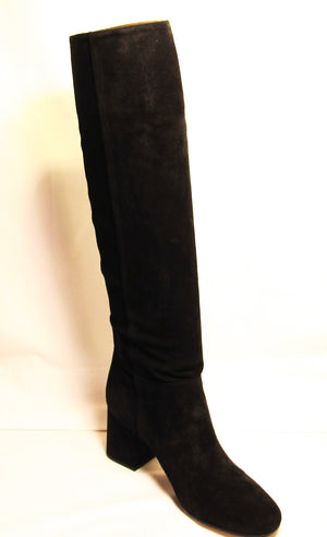 Via Spiga Mellie Tall Black Suede Slouch Knee High Boot