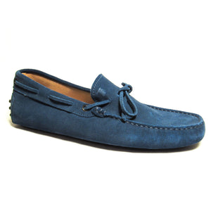 Tod's Suede Tie Moccasins - Blue