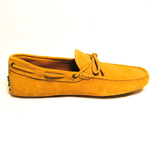 Tod's Suede Tie Moccasins - Yellow